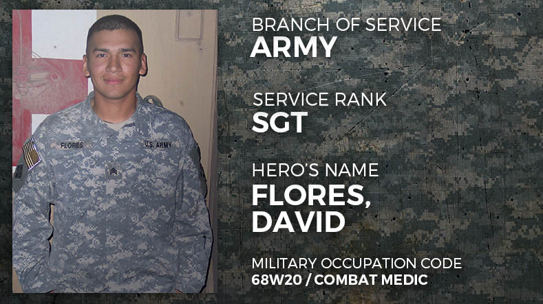 Army Sergeant David Flores