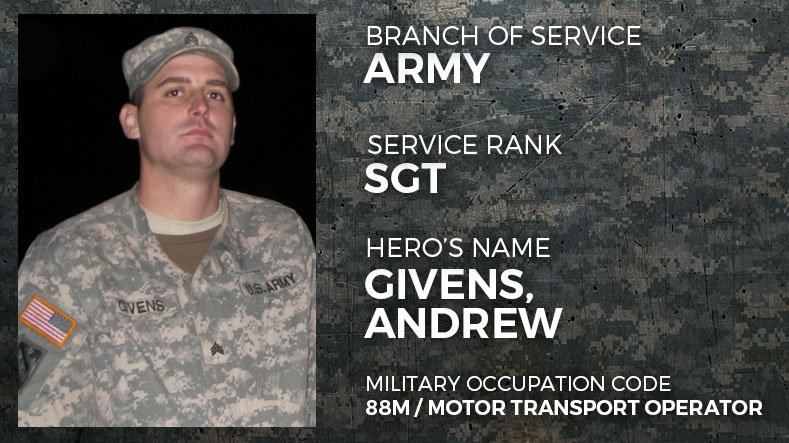 Army Sergeant Andrew Givens