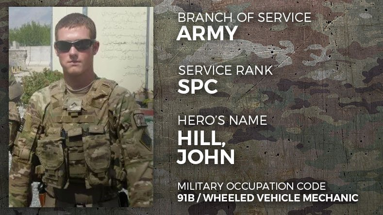 Army Specialist John Hill