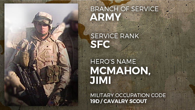 Army Sergeant First Class Jimi McMahon