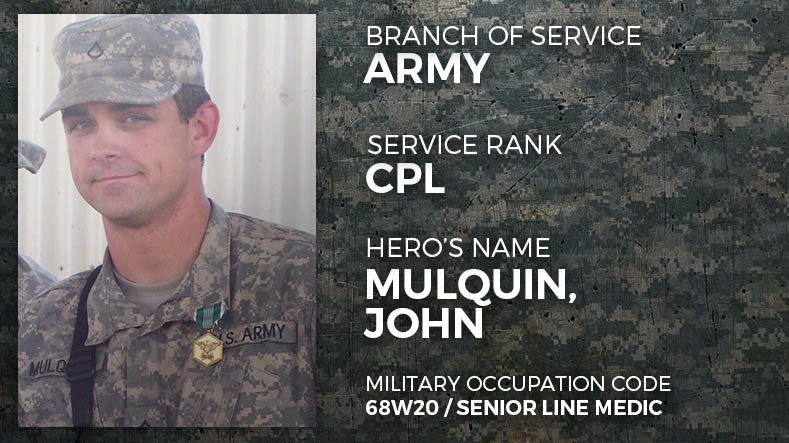 Army Coporal John Mulquin