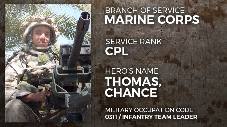 Marine Corps Corporal Chance Thomas
