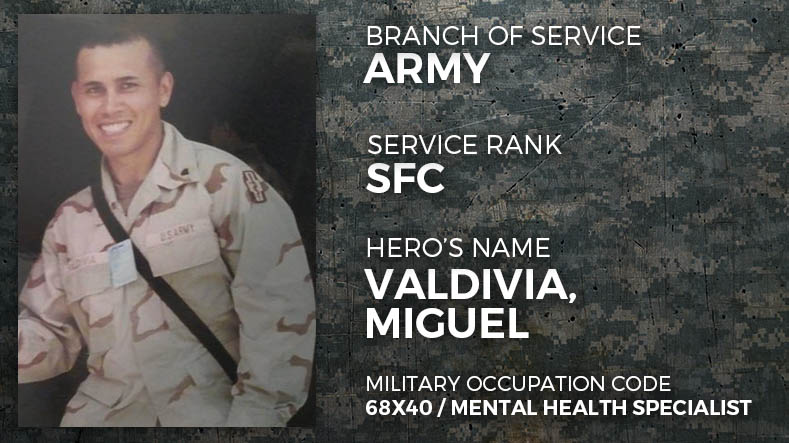 Army Sergeant First Class Miguel Valdivia