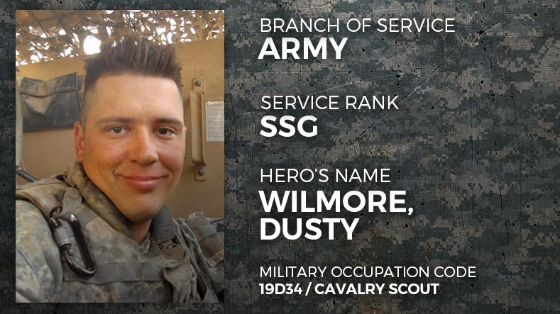 Army Staff Sergeant Dusty Wilmore