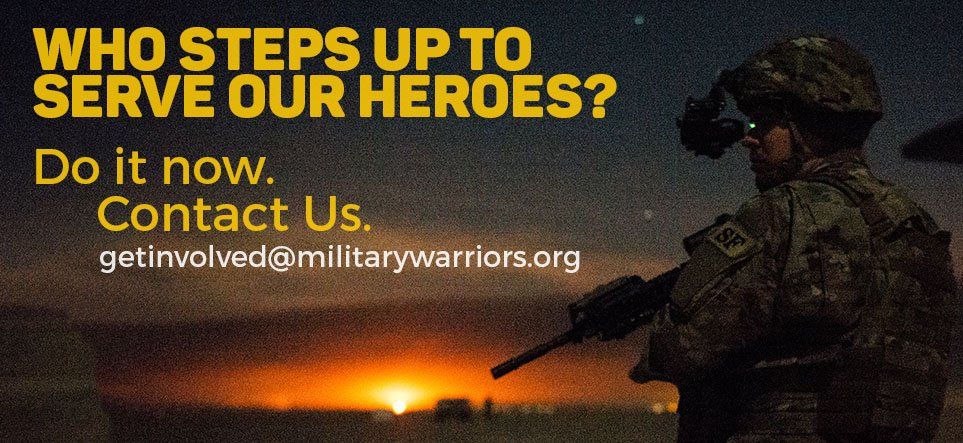 Its time to step up and serve our heroes