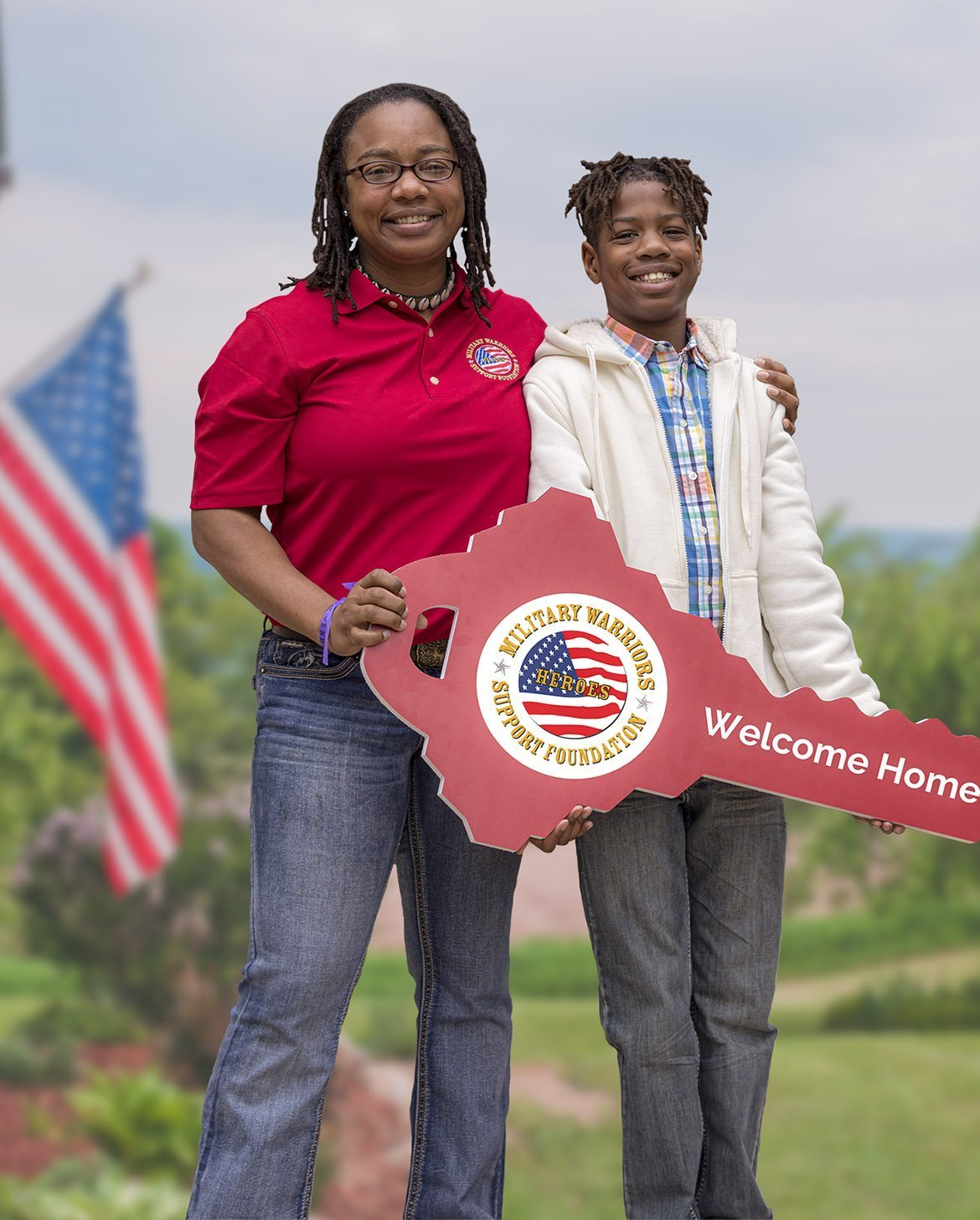 Tiffany Skelton and her son received their mortgage-free home