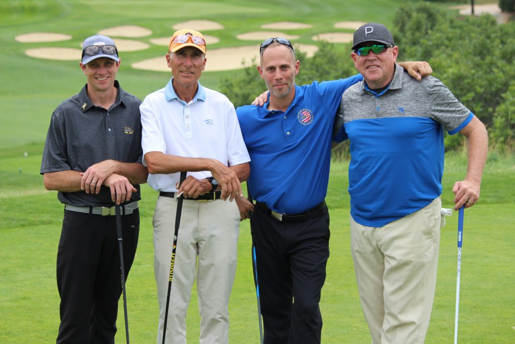 Steven Klimtzak and Team Play Golf at the Bear Dance Golf Club in Larkspur Colorado