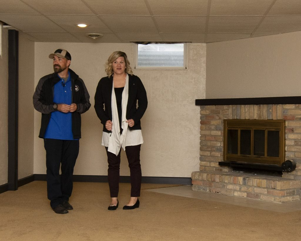 Clint Romesha and Fiance Kelly View the Basement of Their New Mortgage-Free Home