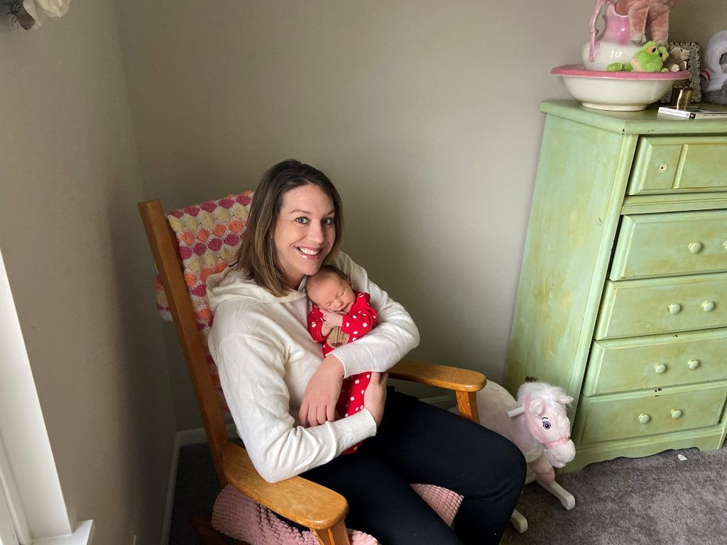 Summer Moore and Baby Talullah in Their New Mortgage-Free Home for the Holidays